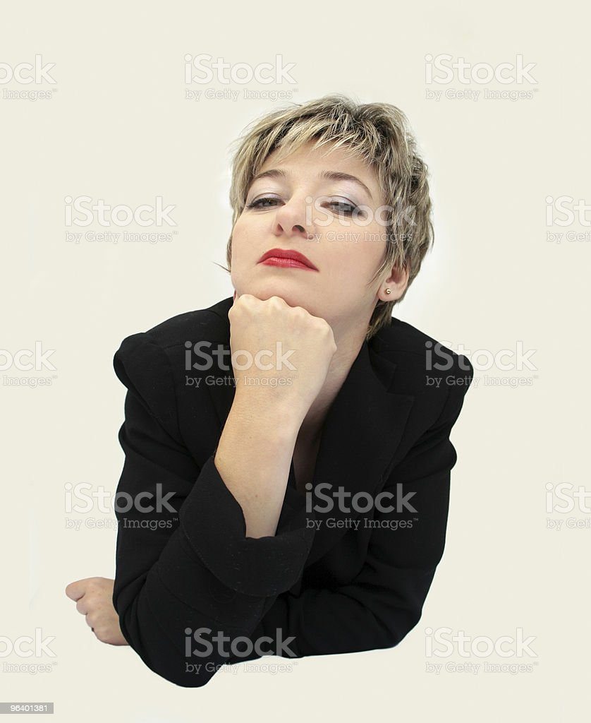 Funny businesswoman portrait royalty-free stock photo