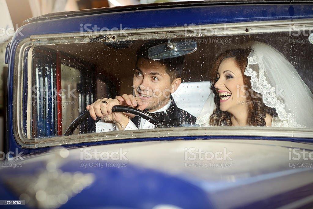 funny car ride royalty-free stock photo