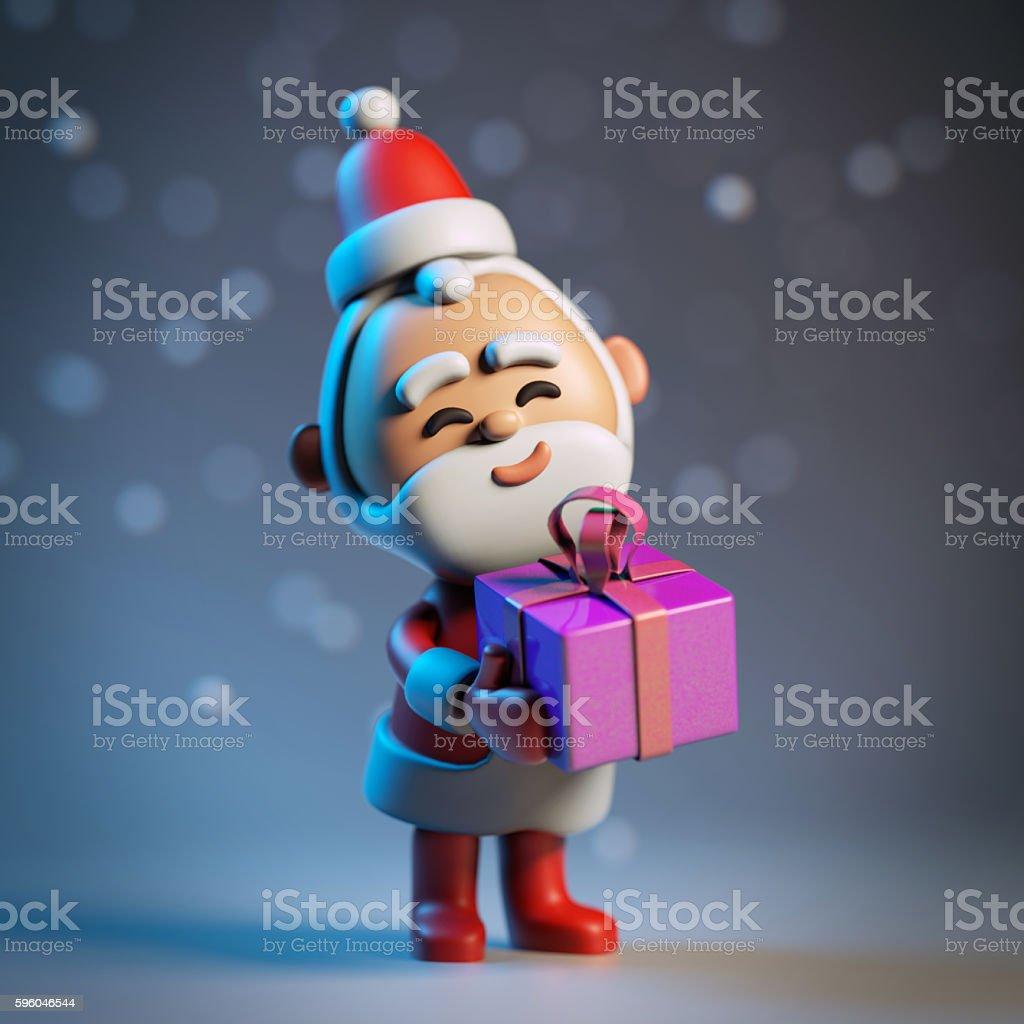 3D funny cartoon character of Santa Claus, happy christmas icon royalty-free stock photo