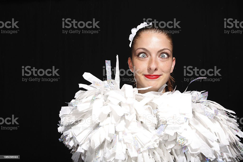Funny Cheerleader royalty-free stock photo