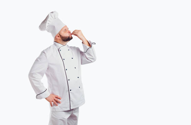 Lustige Koch mit Bart cook – Foto