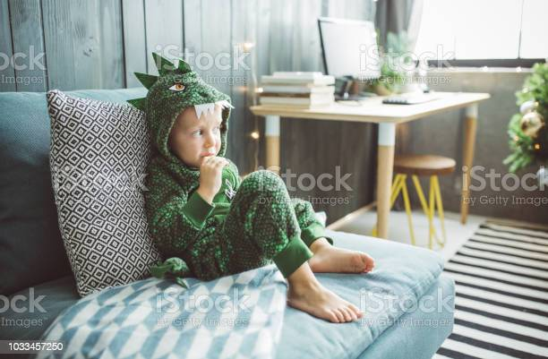 Funny Christmas Morning At Home Stock Photo - Download Image Now