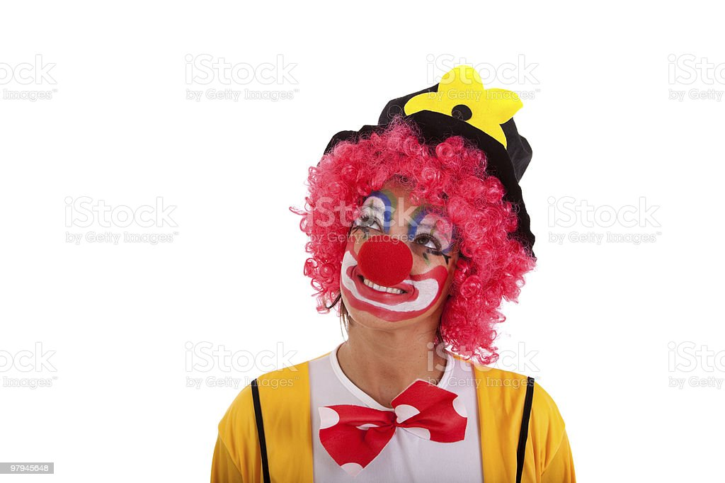 funny clown royalty-free stock photo