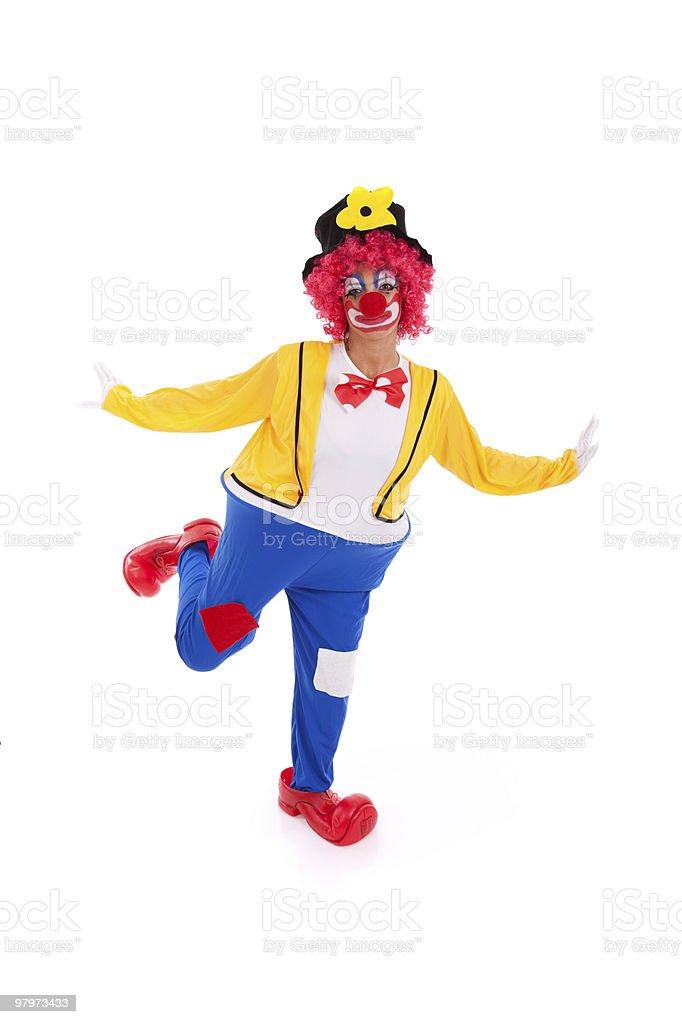 funny clown royalty-free stock photo