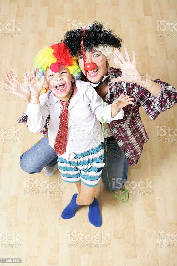Funny clowns royalty-free stock photo