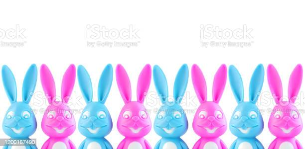 Funny colorful bunnies on white background easter bannerweb site picture id1200167490?b=1&k=6&m=1200167490&s=612x612&h=q7jumcq1g6occloa1dlvw wb4umiahs7e1dcwrzcb7w=