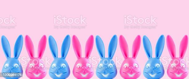 Funny colorful bunnies on white background easter bannerweb site picture id1200984176?b=1&k=6&m=1200984176&s=612x612&h=1zzuk0gjzj2wqsjhkn8v3m rjgnkopizjik7oh6jr74=