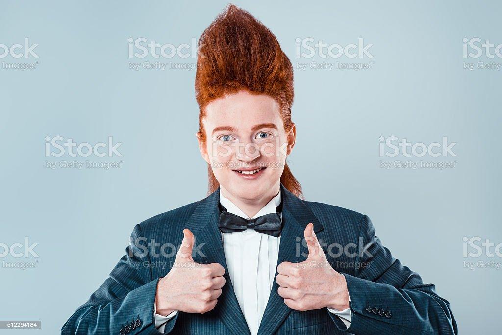 Drôle concept rousse jeune homme - Photo