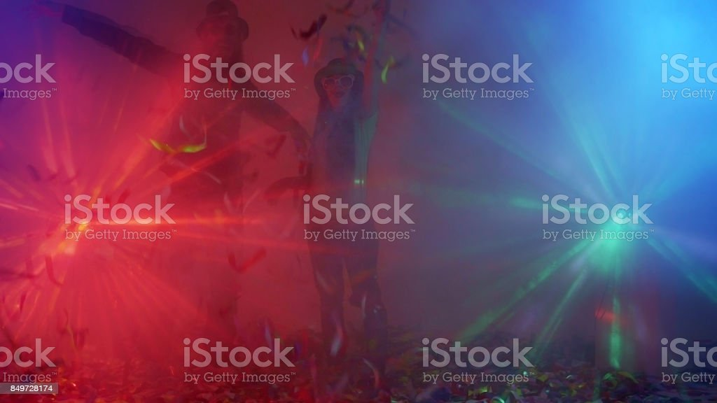 Funny Couple On Incendiary Party stock photo