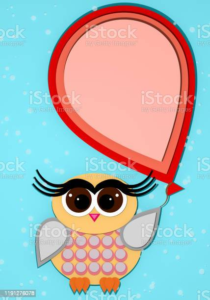 Funny cute owl with red balloon on light blue background 3d picture id1191276078?b=1&k=6&m=1191276078&s=612x612&h=1gdiiuahvd4mjucd28xtgcmmf thoqlervenwc251r4=