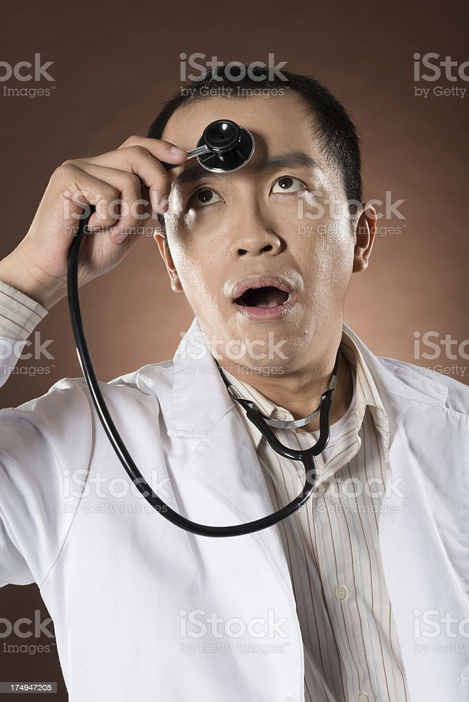 funny doctor royalty-free stock photo