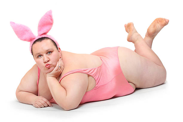Funny Easter Bunny. stock photo