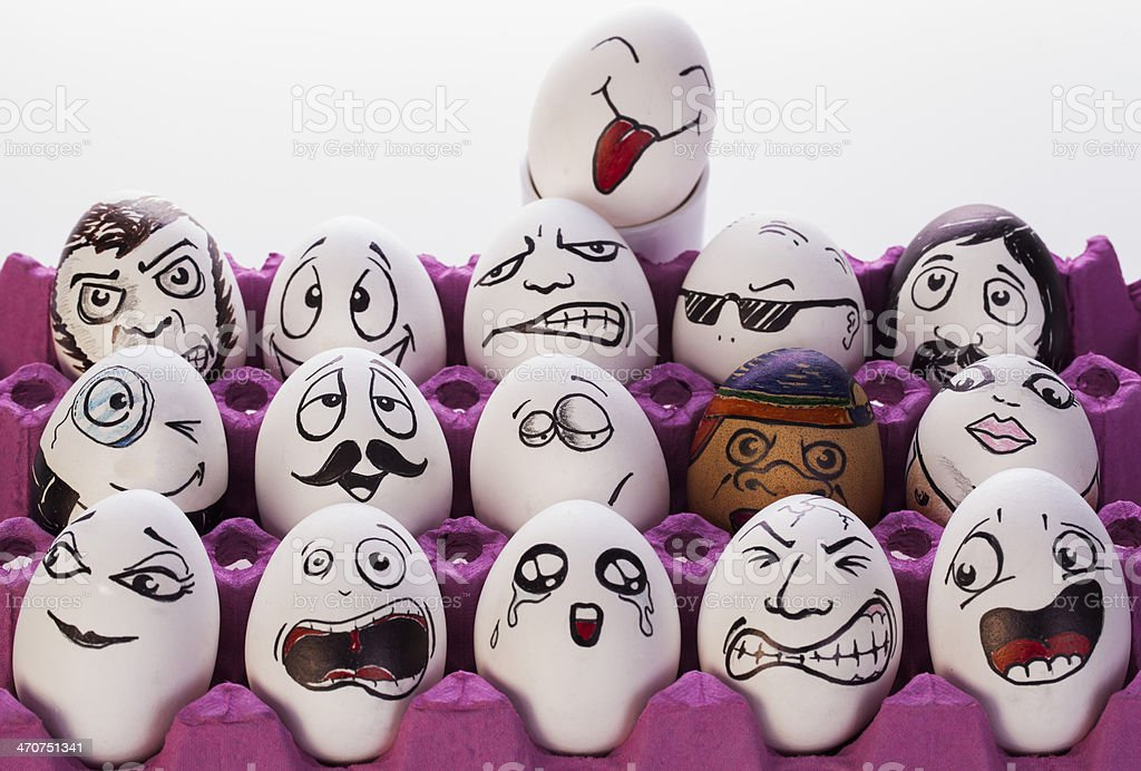 Funny Eggs stock photo