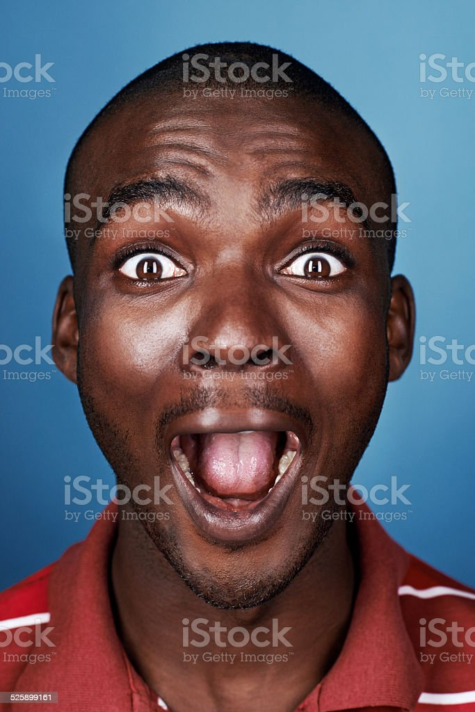 funny face african man stock photo