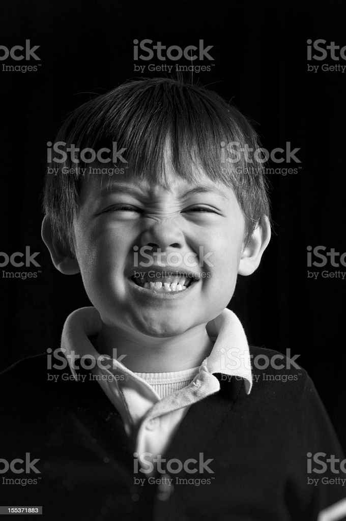 Funny Face Boy royalty-free stock photo