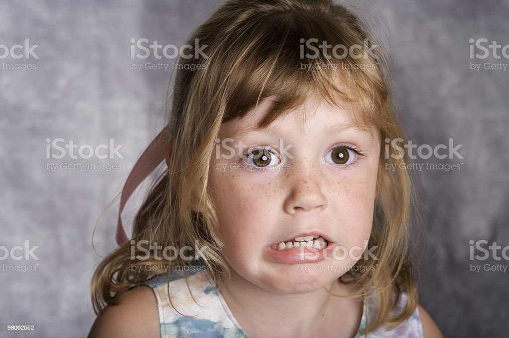Funny Face Girl royalty-free stock photo