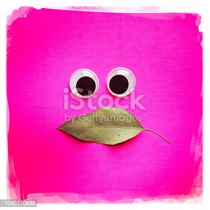 Whimsical face on Pink Background.   iPhone