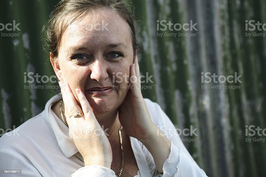 Funny Face Woman royalty-free stock photo