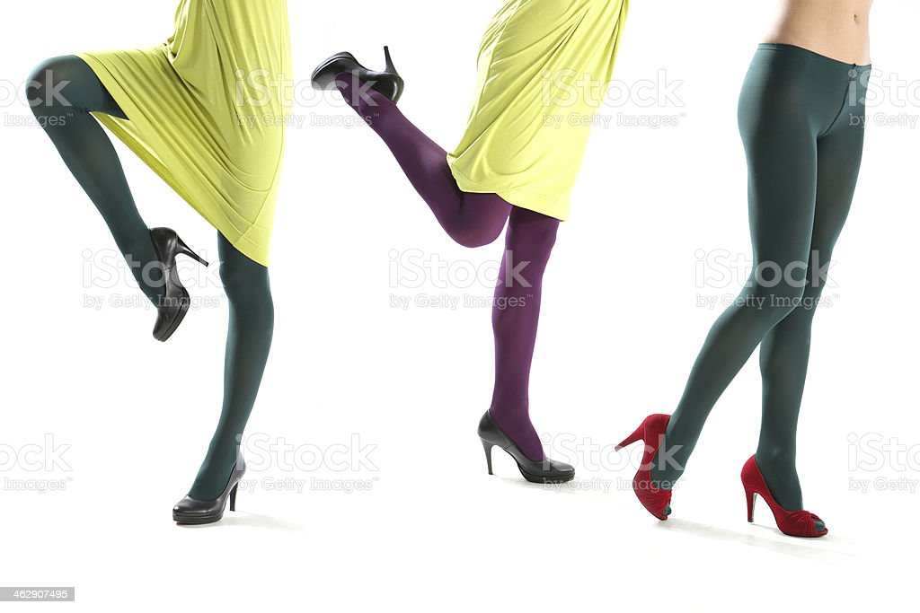 Funny female leg stock photo