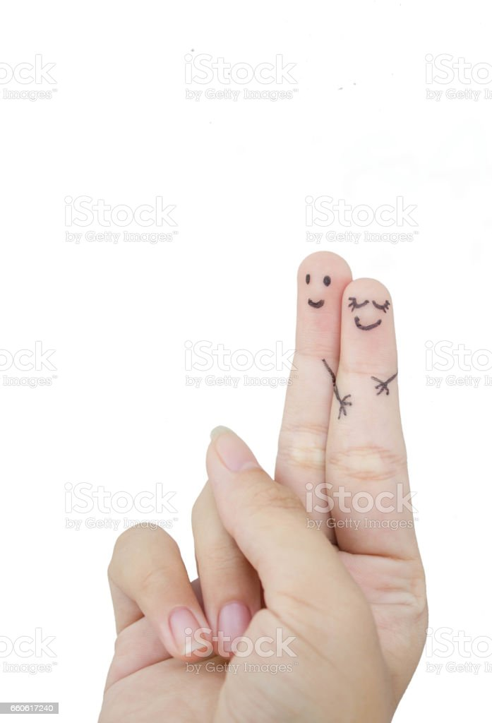 funny finger lovers royalty-free stock photo