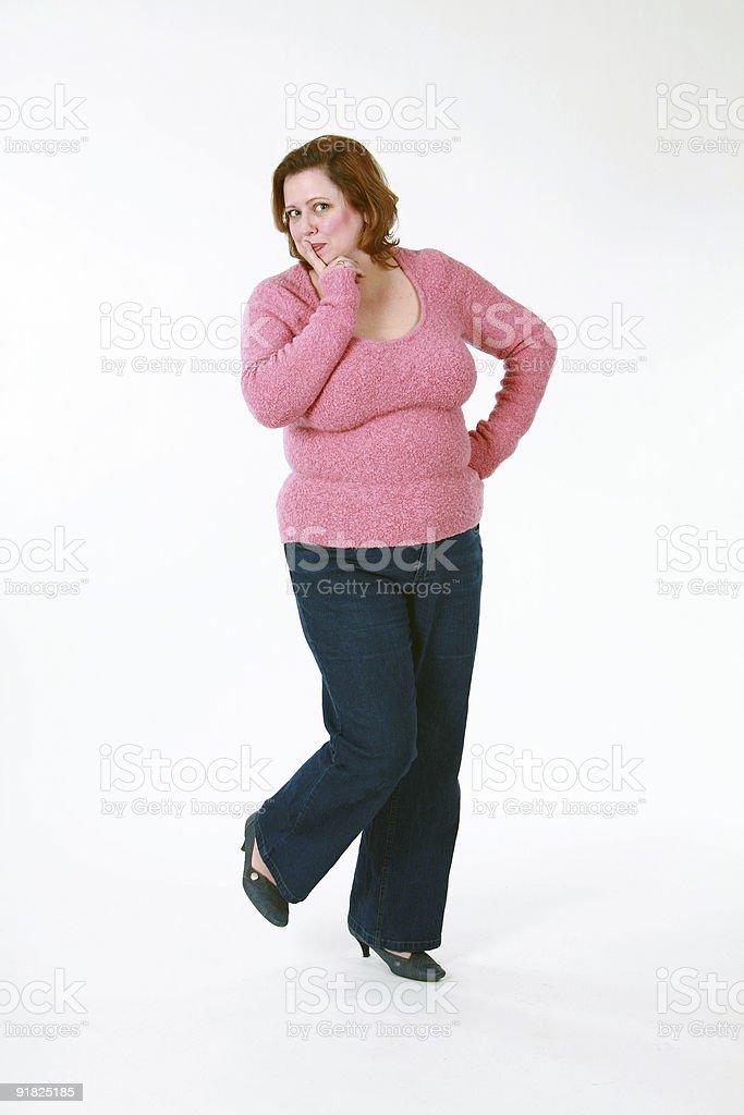 Frau, die groß dick ist
