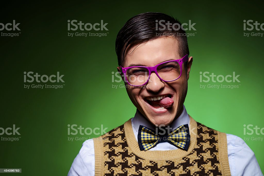funny geek stock photo