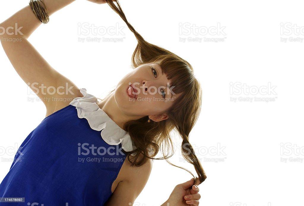Funny Girl royalty-free stock photo