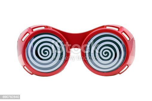 Funny glasses isolated on white background, Extravagant party goggles.