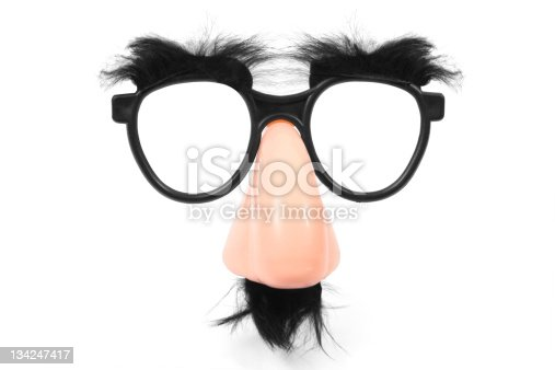 Funny glasses with nose and mustache (Style Groucho Marx Disguise) in XXXL.