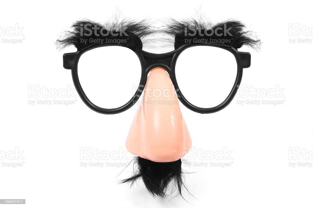 Funny glasses stock photo