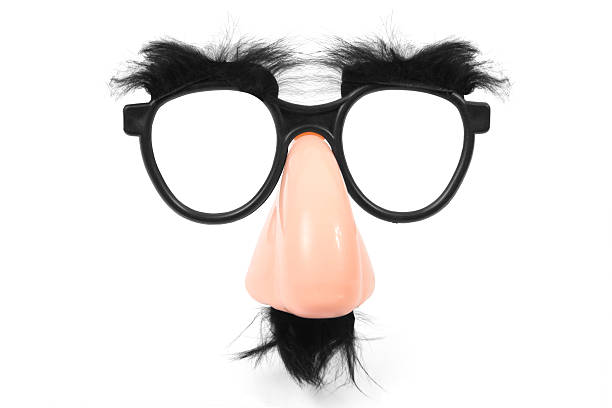 funny glasses - mask disguise stock photos and pictures