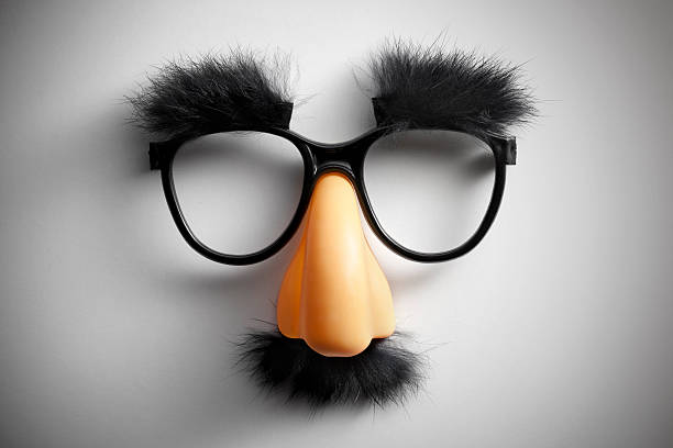 Funny glasses. stock photo