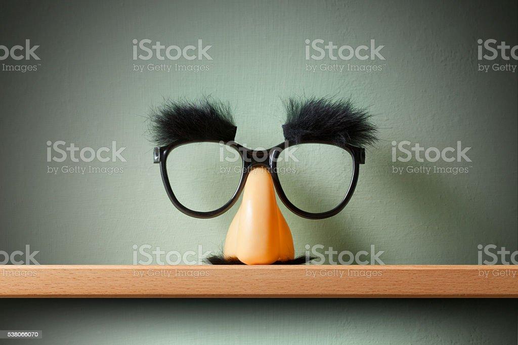 Funny glasses. stock photo