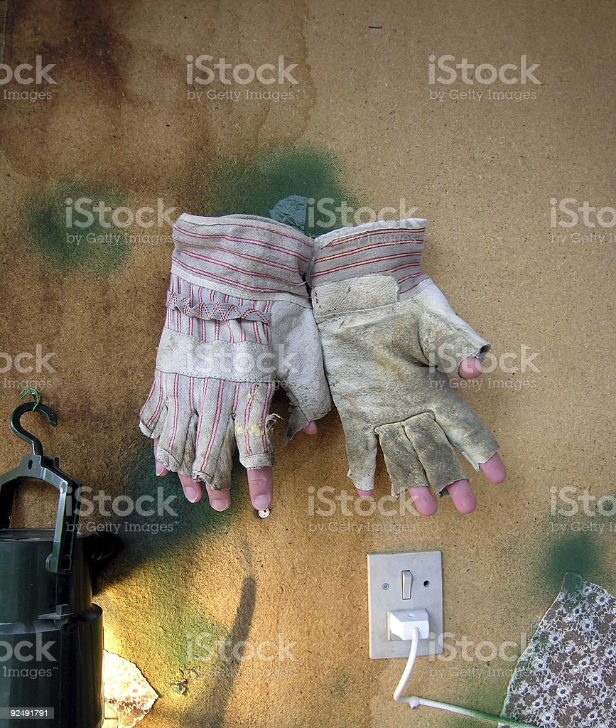 Funny Gloves royalty-free stock photo