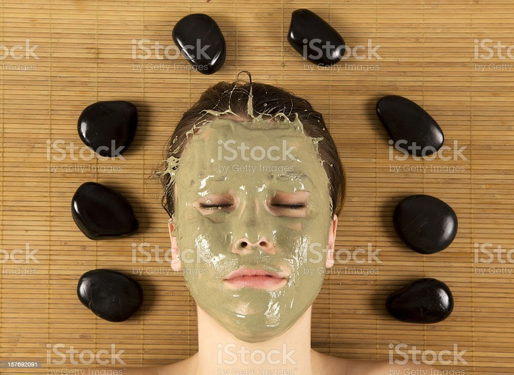 Funny Green Mask royalty-free stock photo