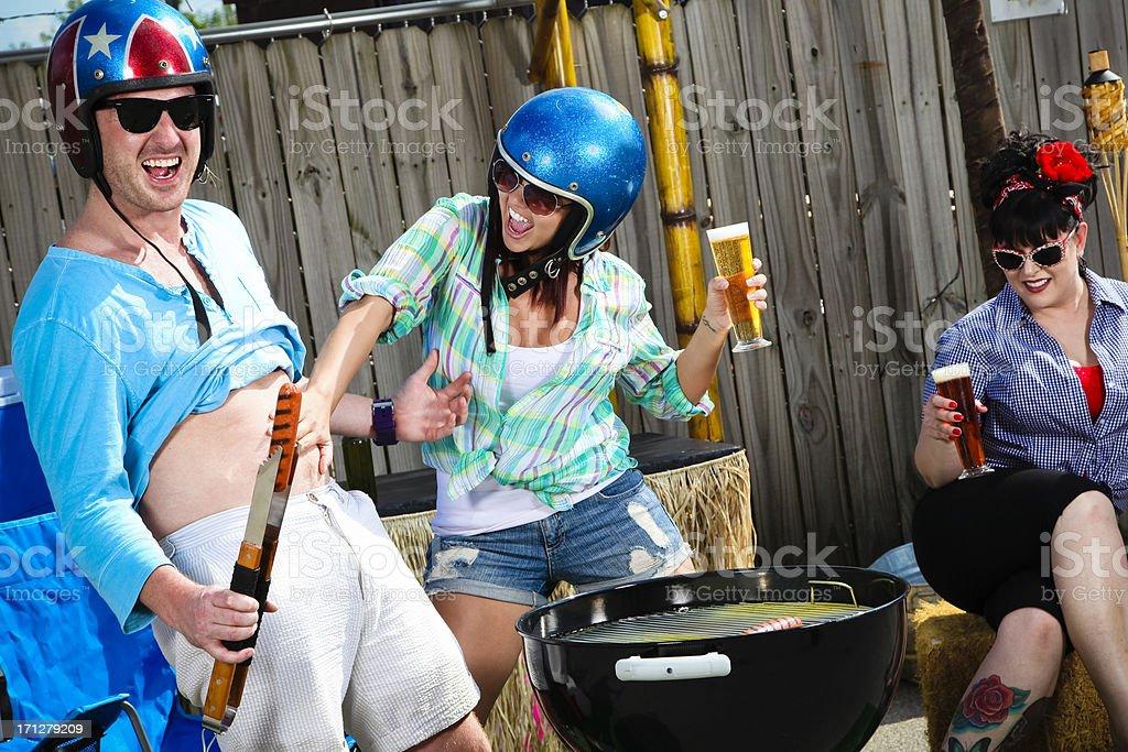Drôle groupe Grill Out- Pats ventre de Femme Homme - Photo