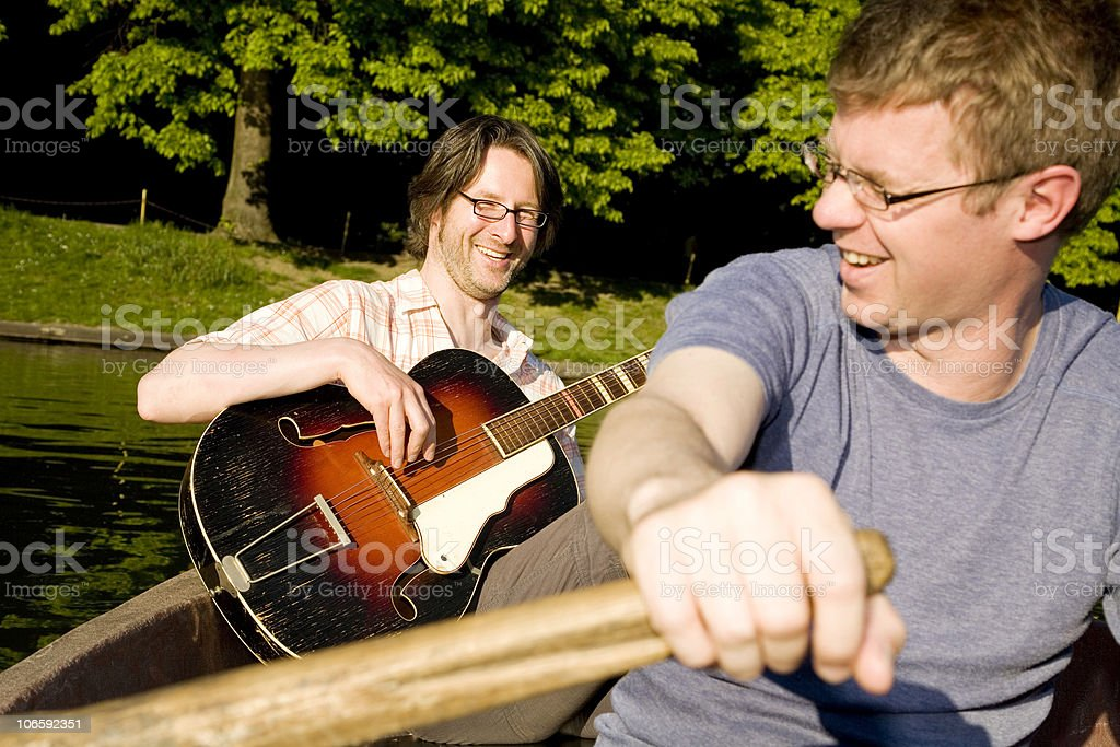 funny guitarplayer royalty-free stock photo