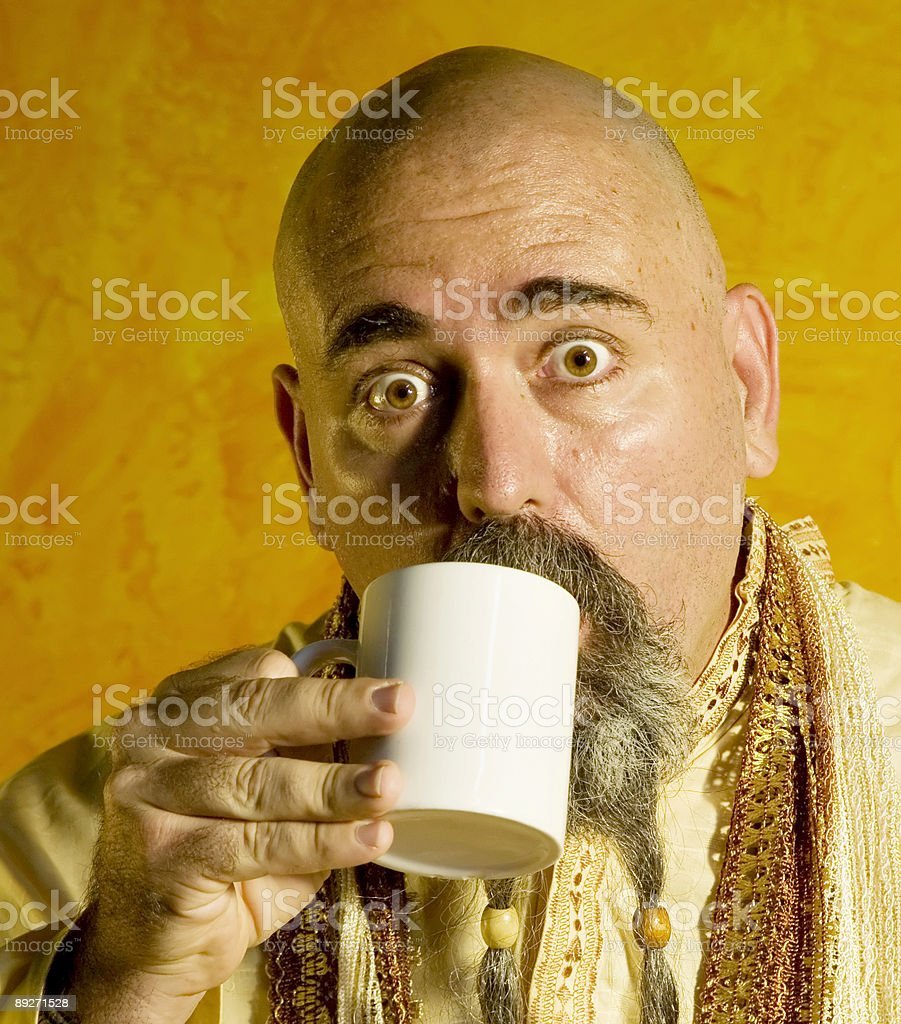 Funny Guru royalty-free stock photo
