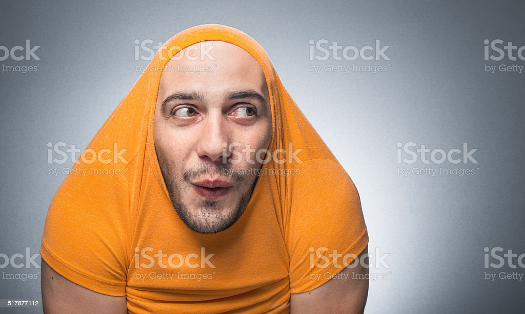 Funny guy - man stock photo
