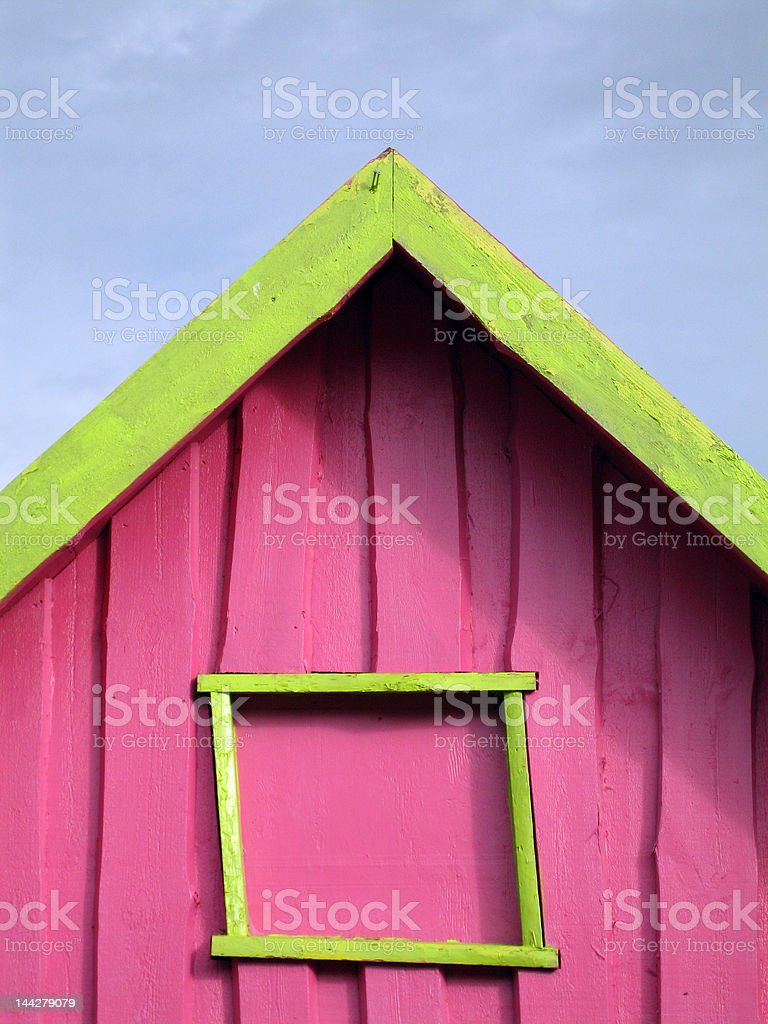 Funny house stock photo
