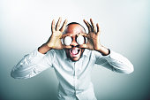 Funny image of african model man