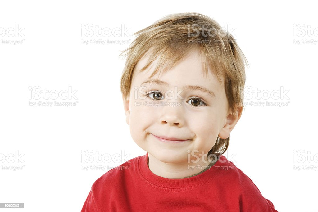 Funny little boy royalty-free stock photo