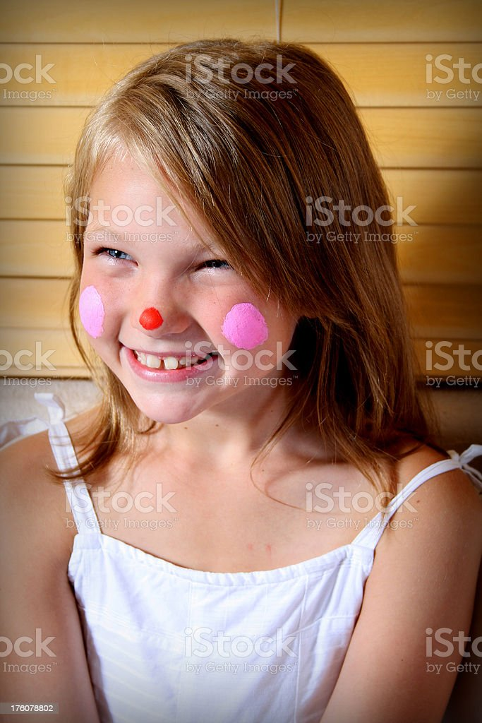 Funny Little Clown royalty-free stock photo