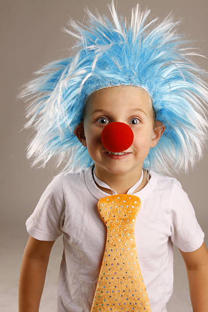 Funny Little Clown stock photo