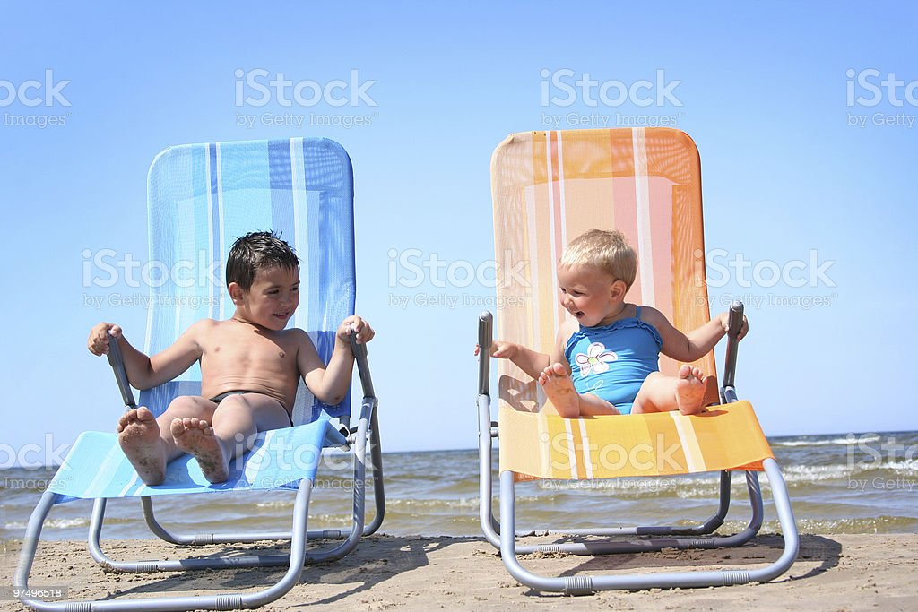 funny little couple royalty-free stock photo
