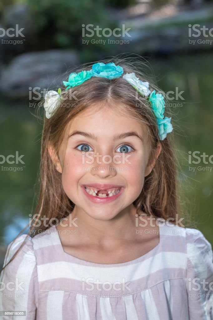 Funny little girl's portrait royalty-free stock photo