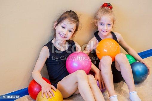 1160198096 istock photo Funny little gymnasts 501836713