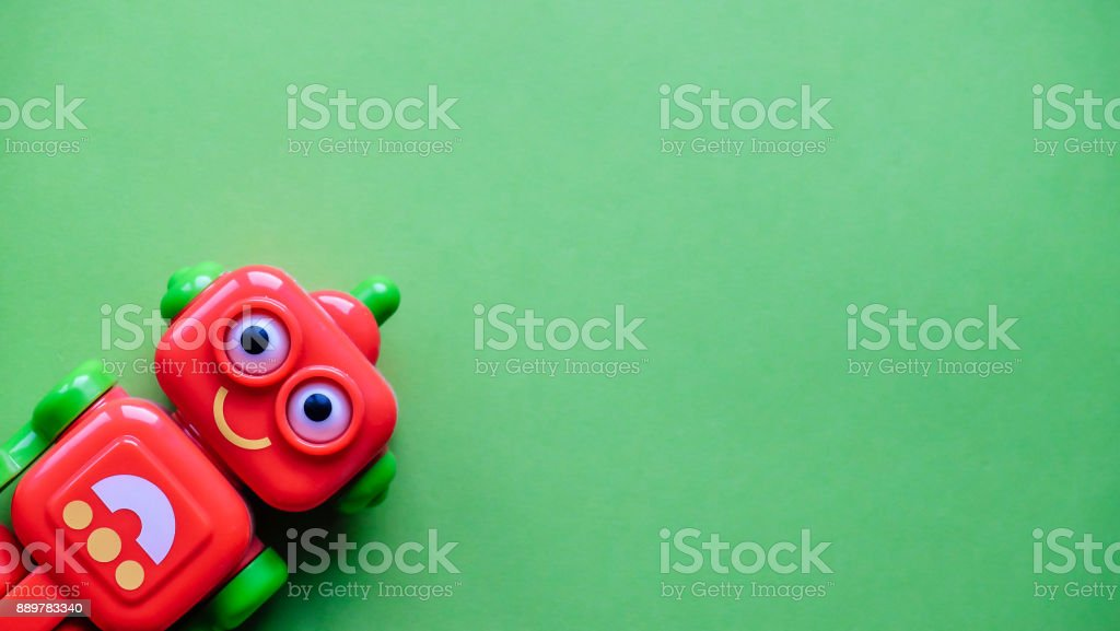 Funny little robot royalty-free stock photo