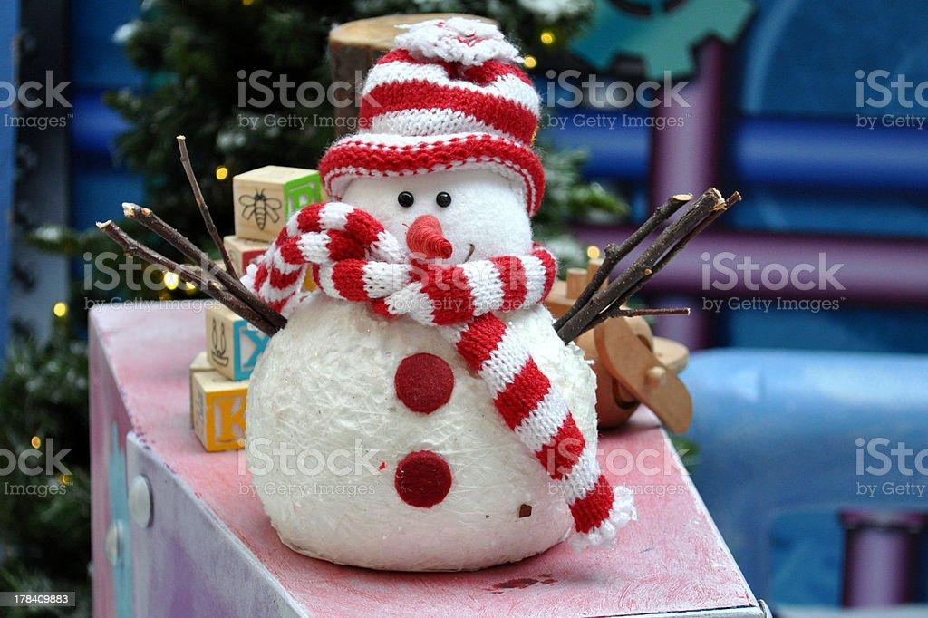 Funny little snowman stock photo