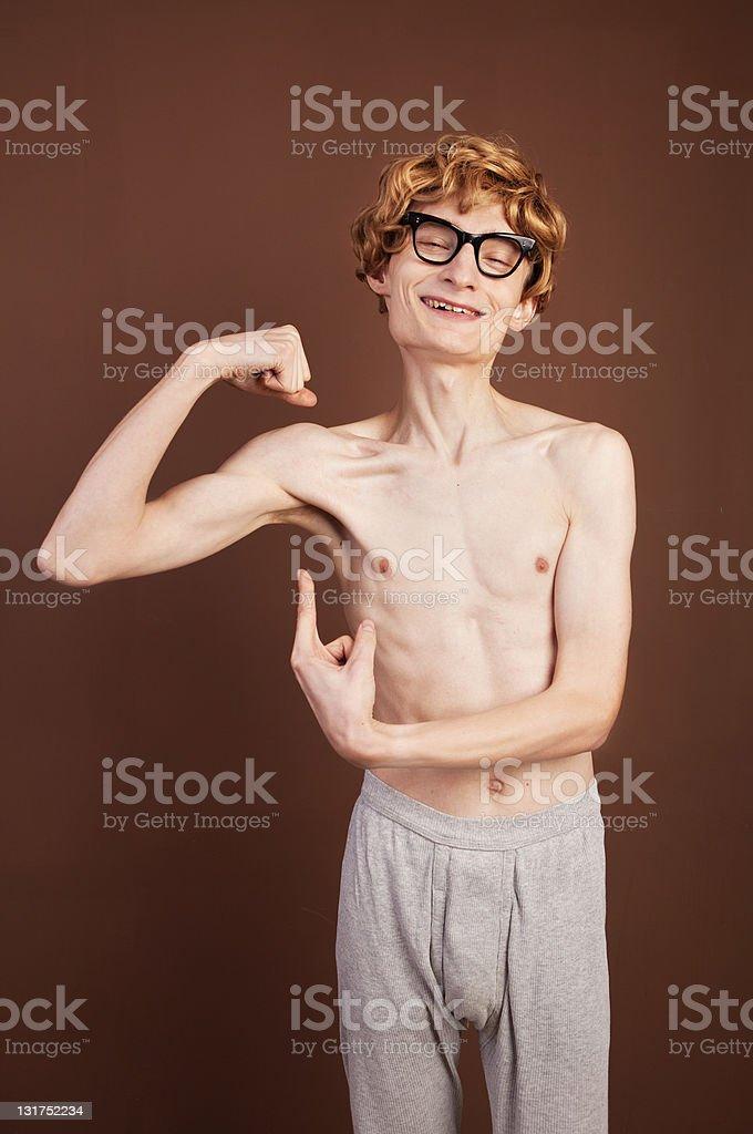 Funny macho guy stock photo